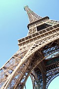 Eiffel Tower Metal Prints - Eiffel Tower From Beneath Metal Print by Photo by Ira Heuvelman-Dobrolyubova