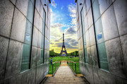 Monument Prints - Eiffel Tower Print by Haaghun