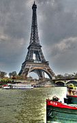 John Williams Metal Prints - eiffel tower HDR Metal Print by John Williams