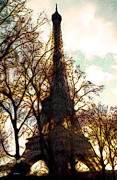 Impressionism Digital Art Prints - Eiffel Tower Impressions Print by Linda  Parker