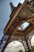 Built Structure Art - Eiffel Tower In Perspective by Bernard Collardey Photographie