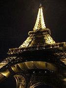 Moonlit Night Photos - Eiffel Tower IV Paris France by John A Shiron