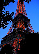 Paris Metal Prints - Eiffel Tower Metal Print by Juergen Weiss