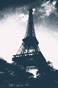 Black And White Paris Posters - Eiffel Tower Poster by Micah May
