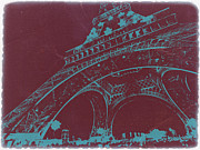 World Cities Digital Art Metal Prints - Eiffel Tower Metal Print by Irina  March