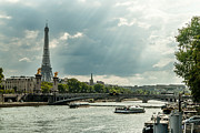 Photogaph Art - Eiffel Tower One by Josh Whalen