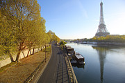 Y120817 Art - Eiffel Tower, Paris, Acorss The Seine by Martial Colomb