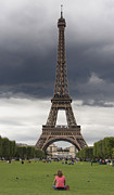 Tourist Photo Posters - Eiffel tower. Paris Poster by Bernard Jaubert