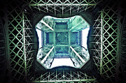 Below Framed Prints - Eiffel Tower Paris Framed Print by Fabien Astre