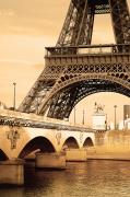 Eiffel Tower, Paris, France Print by Carson Ganci