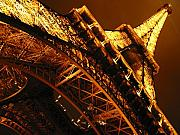 Cities Prints - Eiffel Tower Paris France Print by Gene Sizemore