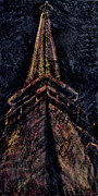 Side View Mixed Media Posters - Eiffel Tower Paris France Poster by Michelle Iglesias