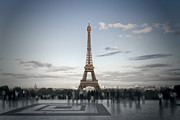 Summer Digital Art Metal Prints - Eiffel Tower PARIS Metal Print by Melanie Viola