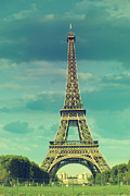 Eiffel Tower Metal Prints - Eiffel Tower Paris Metal Print by Mihaela Muntean
