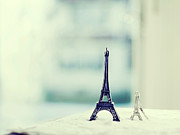 Variation Art - Eiffel Tower Still Life With Blurry Blue Backgroun by Kristy Campbell