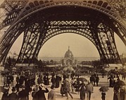 Tour Eiffel Photo Posters - Eiffel Tower, View Toward The Central Poster by Everett