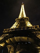 Moonlit Night Photos - Eiffel Tower VII Paris France by John A Shiron