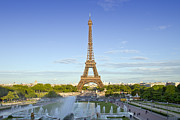 Tour Eiffel Photo Posters - Eiffel Tower with Fontaines Poster by Melanie Viola