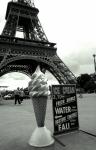 Kathy Yates - Eiffel with Ice Cream Cone