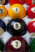Pool Balls Posters - Eight Ball Poster by Garry Gay