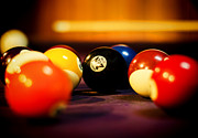 Pool Balls Posters - Eight Ball Poster by Heather Applegate