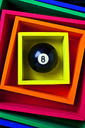Orange Ball Prints - Eight Ball In Box Print by Garry Gay