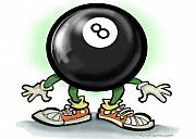 Sport Prints - Eightball Print by Kevin Middleton