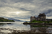 Green Walls Prints - Eilean Donan Castle Print by Justin Albrecht