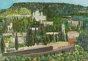 Jerusalem Painting Metal Prints - Ein Karem Jerusalem Metal Print by Avi Lehrer