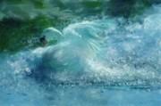 Ein Schwan - The Swan Print by Zeana Romanovna