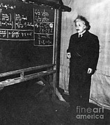 Blackboard Photos - Einstein At Princeton University by Science Source