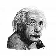 Einstein Drawings - Einstein by Charles Vogan