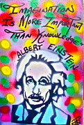 Tea Party Paintings - Einstein IMAGINATION by Tony B Conscious