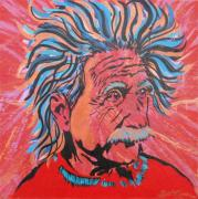 Peoria Artists Paintings - Einstein-In the Moment by Bill Manson