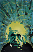 Stencil Spray Prints - Einstein Print by Iosua Tai Taeoalii