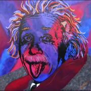 Peoria Artists Paintings - Einstein-Professor by Bill Manson