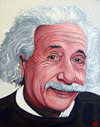 Albert Einstein Paintings - Einstein by Tom Roderick