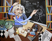 Einstein Prints - Einstian Cant Draw Print by Anthony Falbo