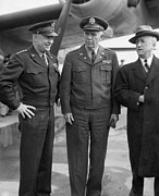 U.s. Air Force Prints - Eisenhower & Marshall 1944 Print by Granger