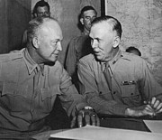 U.s Army Prints - Eisenhower & Marshall Print by Granger