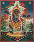 Thangka Framed Prints - Ekajati Framed Print by Sergey Noskov