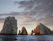 Granite Arches Framed Prints - El Arco And Sea Stacks Cabo San Lucas Framed Print by Tim Fitzharris