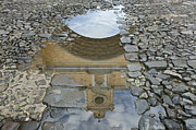 Puddle Prints - El Arco de Santa Catlina Print by Rob Tilley