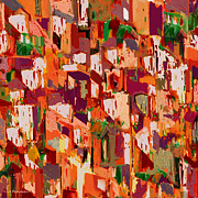 Hall Mixed Media Prints - El Barrio. Print by Andrew Penman