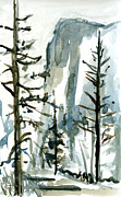 Yosemite Paintings - El Capitan by Carol A Marcus