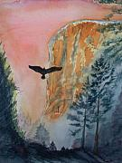 El Capitan Painting Prints - El Capitan  Sunset Print by Warren Thompson