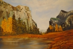 Yosemite Painting Originals - El Capitan Yosemite Valley by James Higgins