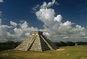Mayan And Toltec Deities Posters - El Castillo Or The Temple Of Kukulcan Poster by Martin Gray