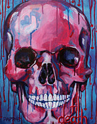 Skull Paintings - El Corazon by Julia Pappas