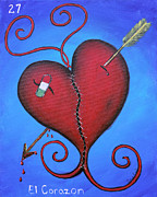 Sewing Mixed Media - El Corazon by Sonia Flores Ruiz